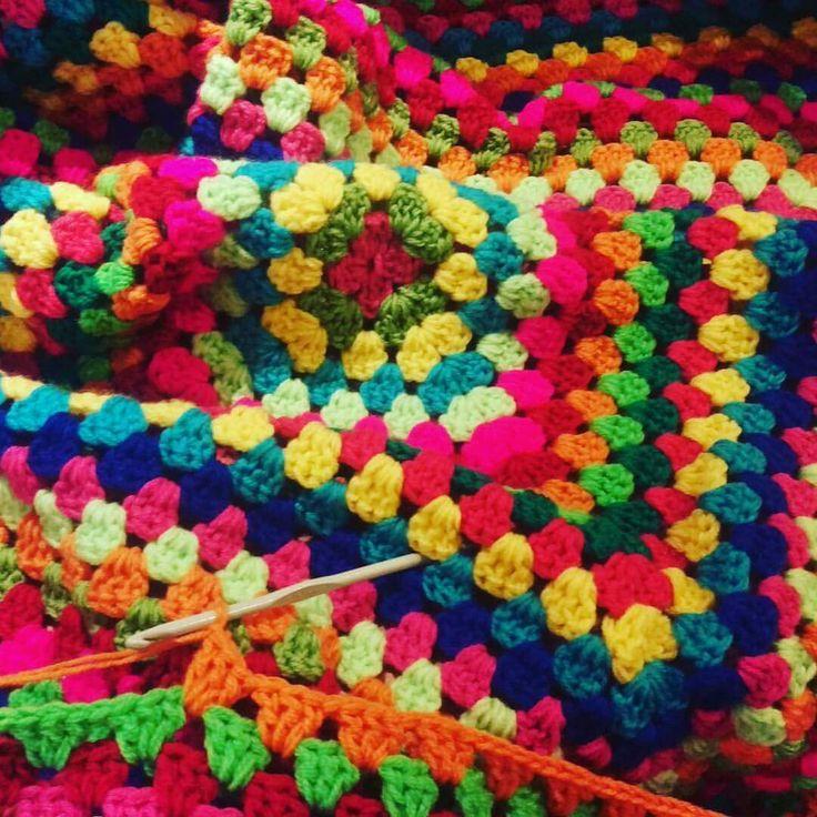 Gehaakt vierkant, crochet giant square