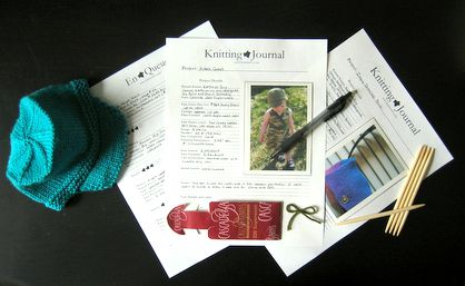 Make your own knitting or crochet journal - free printables