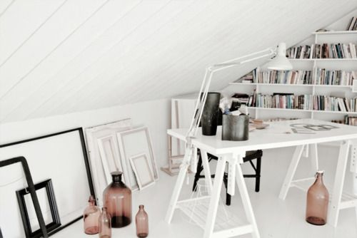 BrightDreams Home, Studios Spaces, Attic Spaces, Dreams Art, Work Spaces, Workspaces, Attic Offices, Work Places, Home Offices