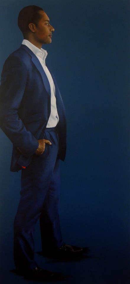 Adam Afriye MP  A life-sized portrait of Adam Afriyie MP by Katie Tunn