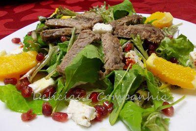 *  Delícias e Companhia  *: Salada de novilho com bagos de romã