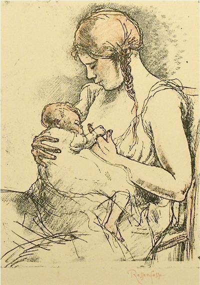 maternity, 1927André Louis 'Armand' Rassenfosse (1862-1934): Breastf Art, Modern Art, Art Mothers, Births Art, Maternity 1927, 1927 André, 1927André Louis, Breastfeeding Art, Breastfe Art