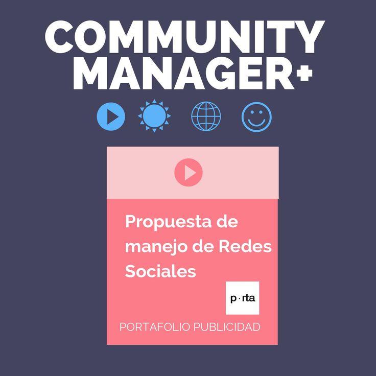 Propuesta de Manejo Redes Sociales Portafolio Publicidad