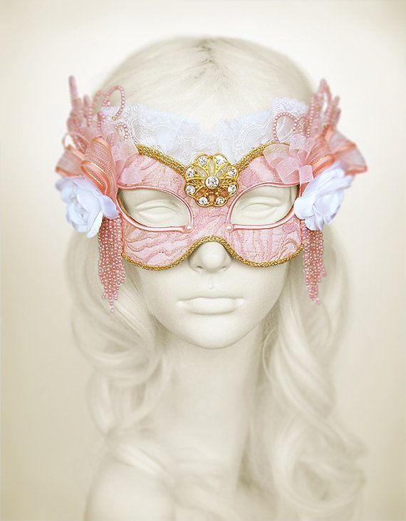 Hey, I found this really awesome Etsy listing at https://www.etsy.com/listing/170763705/brocade-covered-pink-gold-masquerade