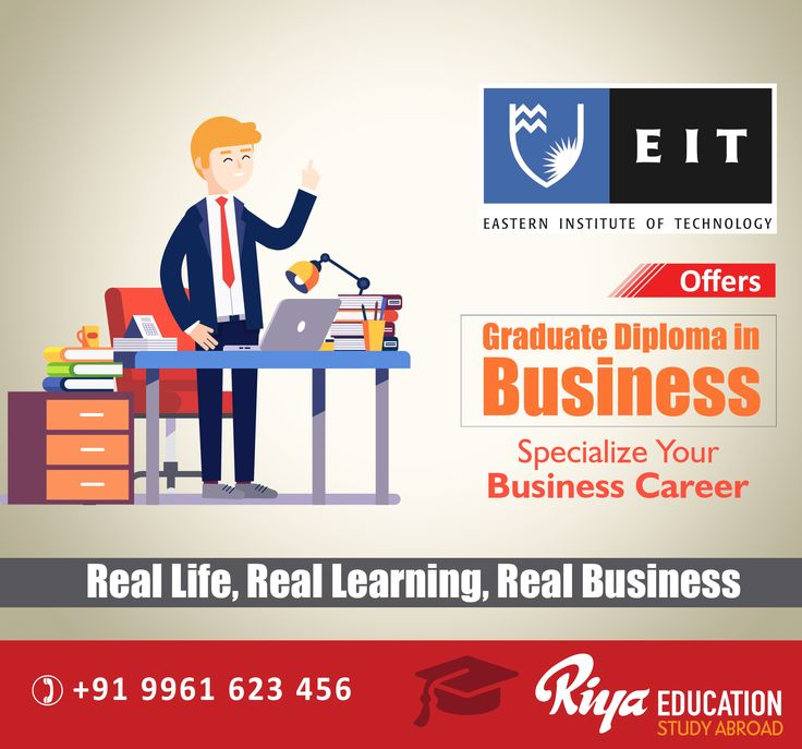 Eastern Institute of Technology Graduate Diploma in Business. Those who wish to know more details can get in touch with Riya Education.  Visit our website http://www.riyaeducation.com/contact/