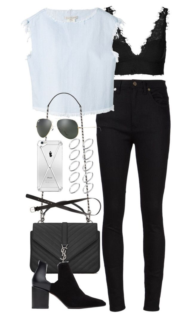 """Inspired outfit with a Topshop Bralet"" by whathayleywore ❤ liked on Polyvore"