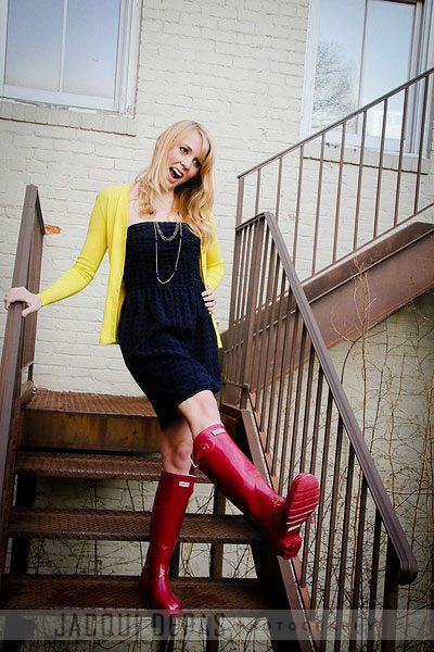 the boots are unexpected and colorful