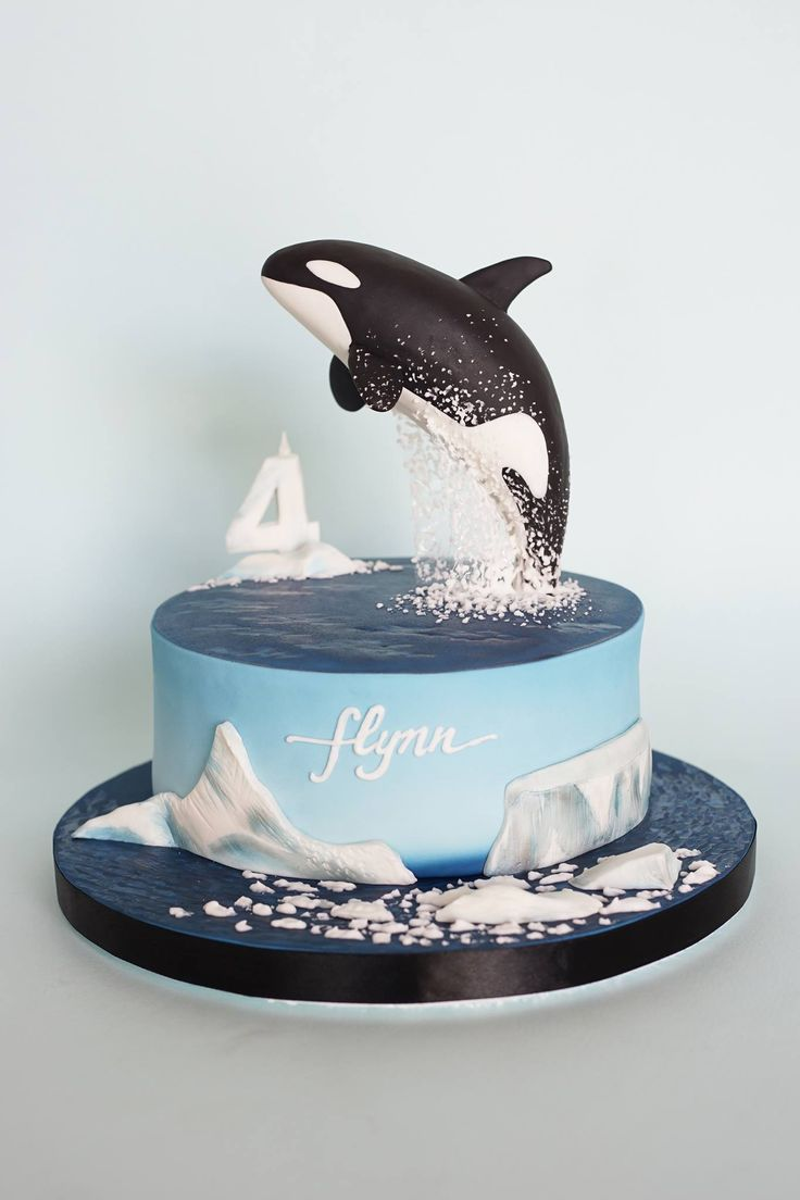 Orca Whale Cake - by Mionette Cakes