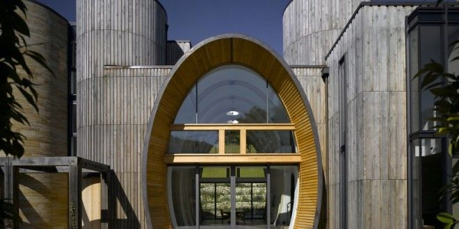 Downley House with Awesome Cylindrical Entrance Hall   HM-decor
