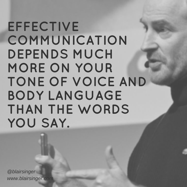 Effective communication depends much more on your tone of voice and body language than the words you say. -- Blair Singer