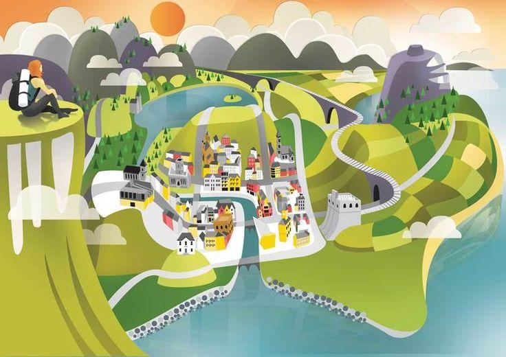Hiking up Benbulben, Sligo, Ireland, Illustration, Knocknarea, Hiking, Landscape…