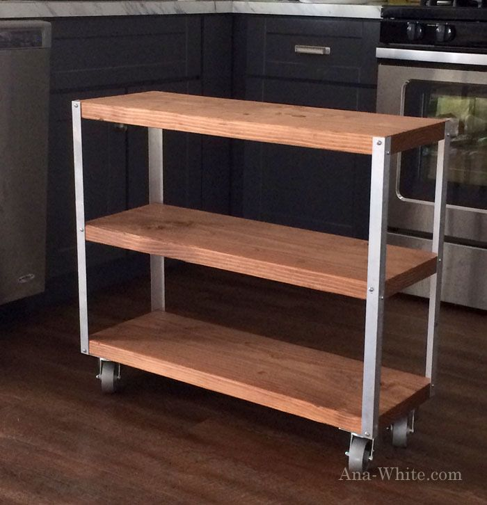 rolling kitchen island cart plans woodworking projects