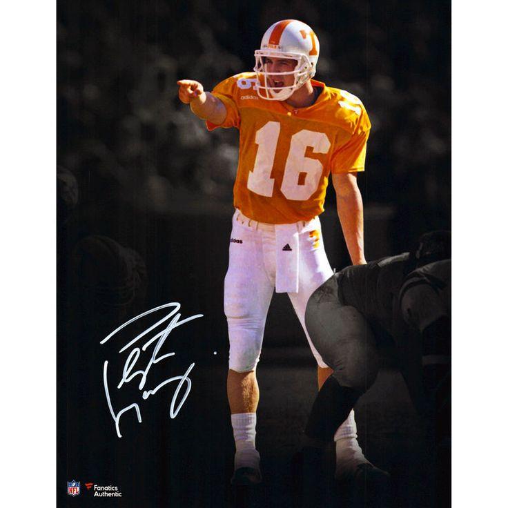 "Peyton Manning Tennessee Volunteers Fanatics Authentic Autographed 11"" x 14"" Orange Spotlight Photograph"