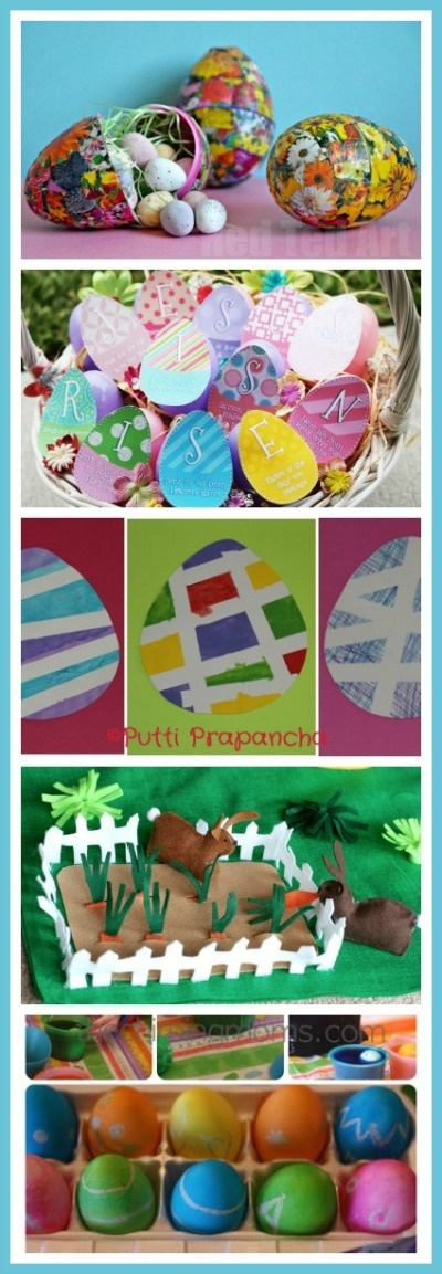 Over a dozen Easter Activities for Kids featured on The Sunday Showcase - Ideas for crafts, play, the Easter story and more!