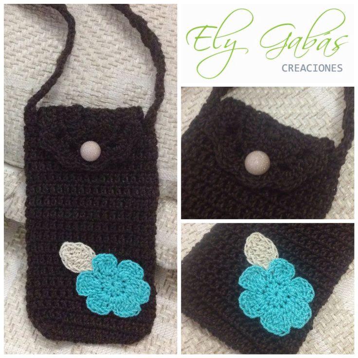 Forro para celular tejido a crochet