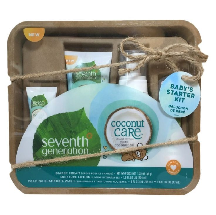 New From Seventh Generation Our Coconut Care Gift Set Contains One Full Size Foa In 2020 Baby Gift Sets New Baby Products Travel Size Products