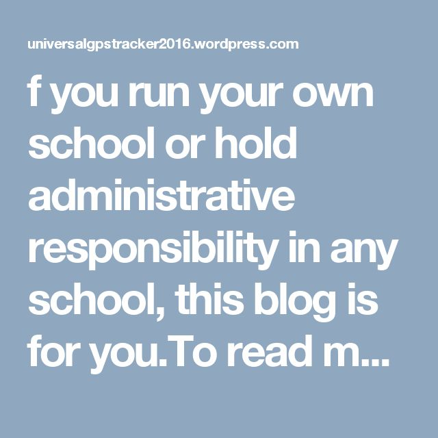 f you run your own school or hold administrative responsibility in any school, this blog is for you.To read more here....https://universalgpstracker2016.wordpress.com/2016/10/12/school-bus-gps-tracking-system-a-must-to-have-thing-for-every-school/