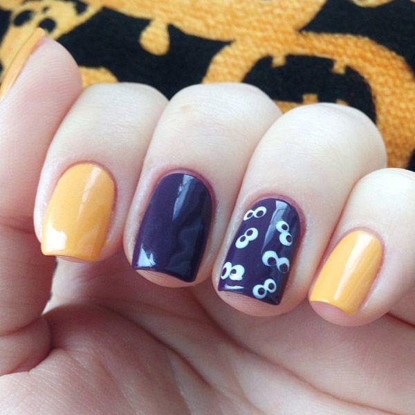 cute easy halloween nail art - Google Search