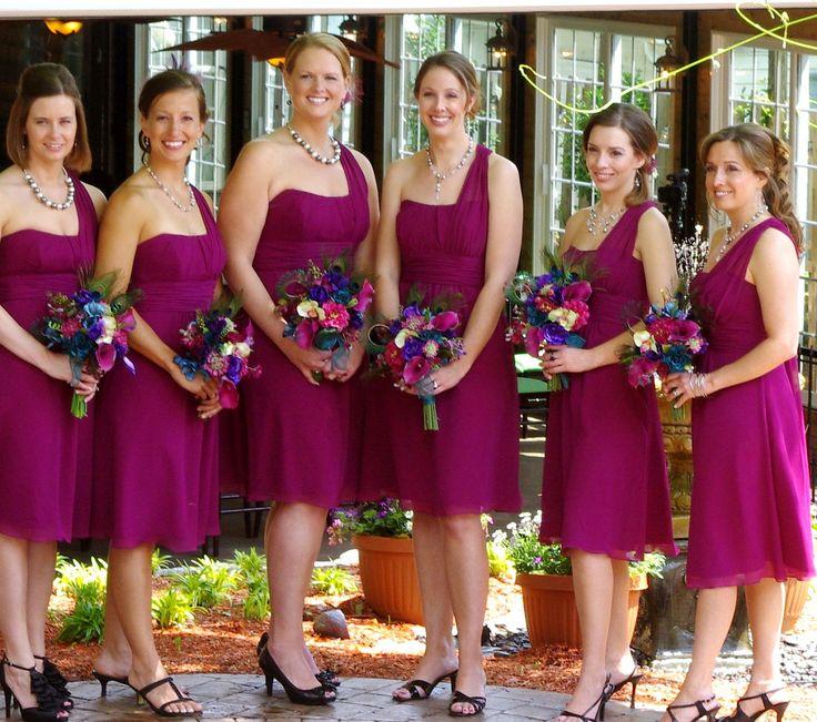 rasberry wedding flowers | Custom Peacock wedding flower package bridal bouquet, bridesmaids ...