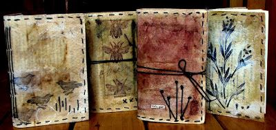 Letting in the Light: Tea Bags and Creations: This is a blog with an amazing use of tea bags... the actual tea bag not dyeing with the tea. Well worth a look for an altered book or art journal!