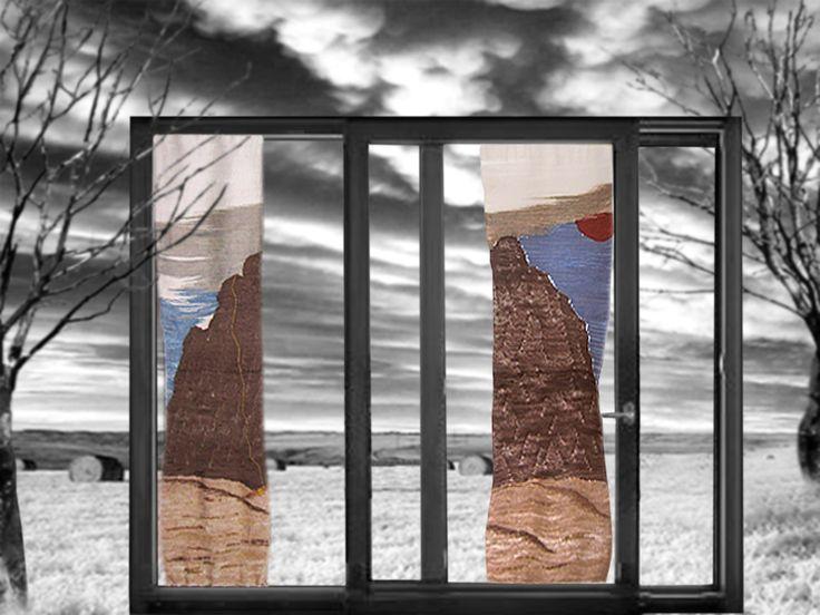 Havana - arazzo tessuto con telaio manuale da Alessandra Salino. L'arazzo fa riferimento alla via aperta da Paolo, insieme a Sandro Bonini, Paolo Stoppini e Alberto Zucchetti sul monte Tsaronoro in Madagascar nel settembre del 2004.