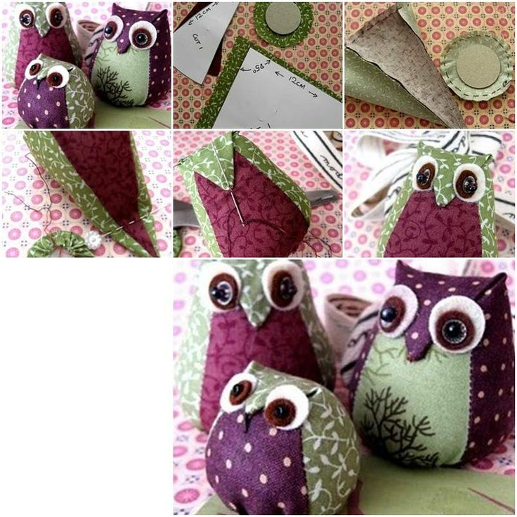 Best 25 fabric owls ideas on pinterest owl pillows owl for Fabric crafts to make