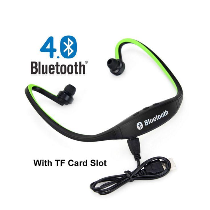 S9 deporte inalámbrica bluetooth para auriculares auriculares auriculares para iphone 7/6/5/4 galaxy s5/s4/3 ios/android con ayuda fm tf tarjeta sd