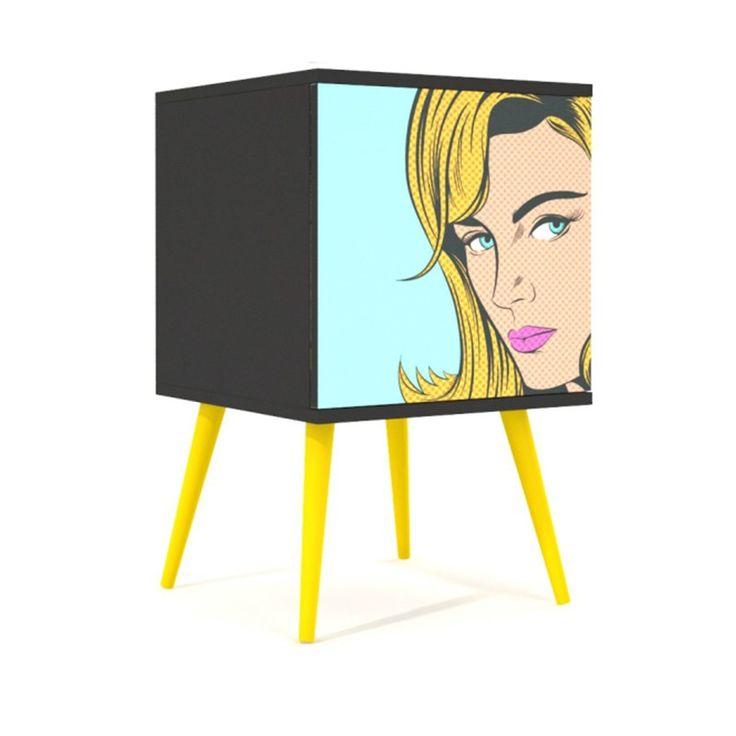 Armário Blond Woman Multiuso 1 porta - Casa Lush #armario #lush #casalush #multiuso #retro #design #furniture