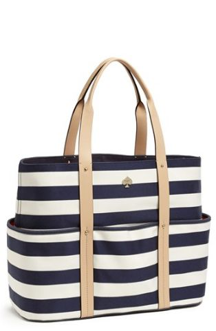 Kate Spade stripe carryall #smirnoffsorbet #guiltlesspleasure