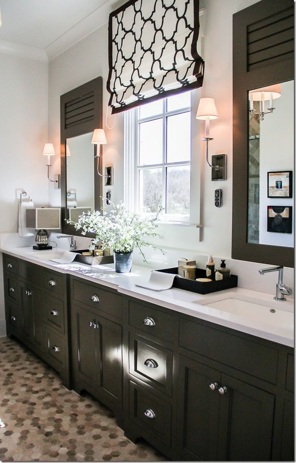 Bathroom Roman Shade in Windsor Smith Riad  Shown in Jet comes in 11 colors. 17 Best images about Bathrooms on Pinterest   Wood wallpaper