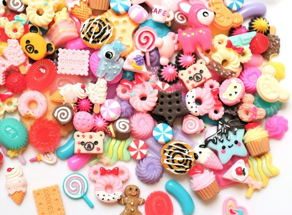25pc decoden sweets mix / cute kawaii cabochons by snapcrafty