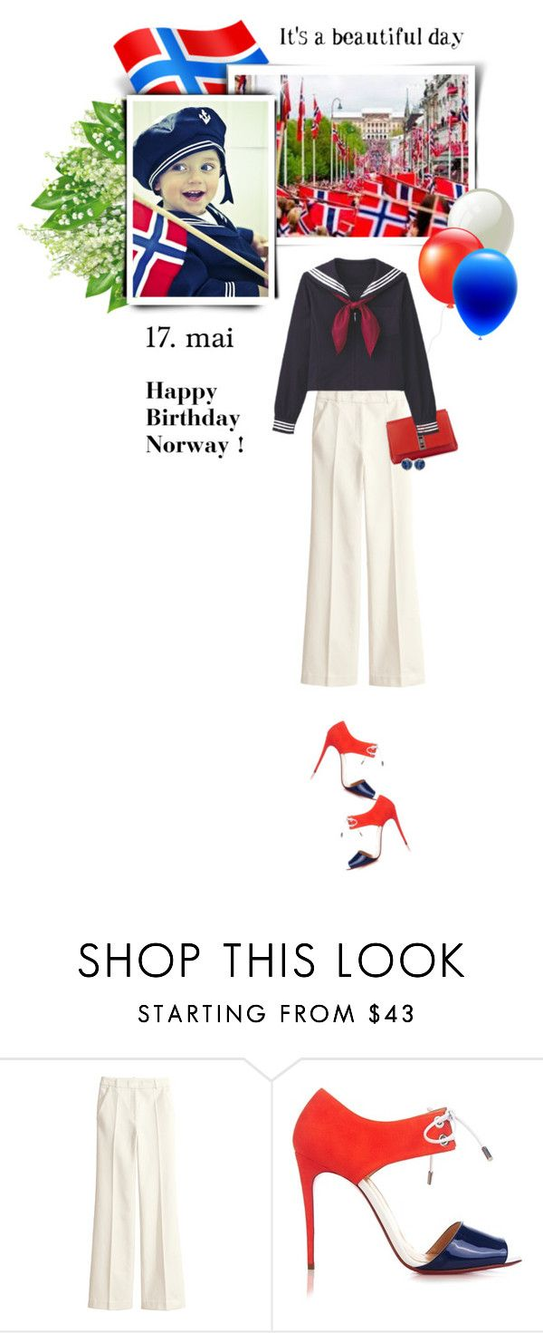 """""""17th of May - Norway's National Day"""" by anne-irene on Polyvore featuring H&M, Sophie Theallet, Christian Louboutin, women's clothing, women, female, woman, misses and juniors"""