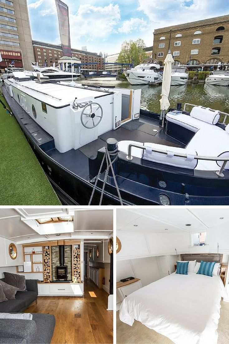This two bedroom luxury houseboat costs half what similar flats cost