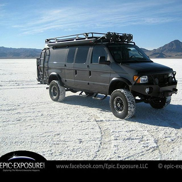 Great shot by @epic_exposure of his #sportsmobile at the Bonneville Salt Flats…