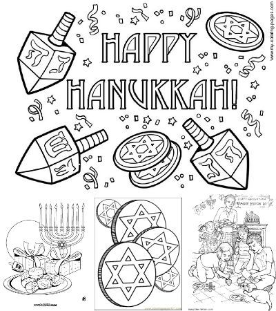 Free Printable Hanukkah Coloring Pages  - repinned by @PediaStaff – Please Visit  ht.ly/63sNt for all our pediatric therapy pins