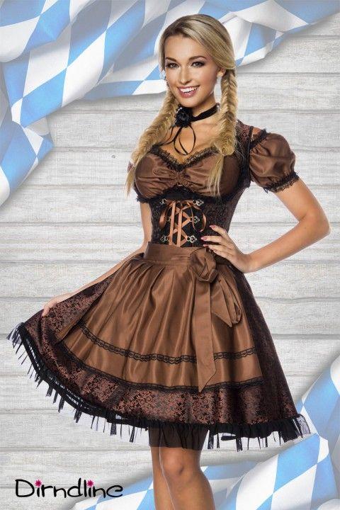 Umwerfende Farben und hochwertiger Stoff sorgen mit diesem #Dirndl für einen absolut umwerfenden Anblick! Ab auf´s Frühlingsfest würden wir sagen! https://www.burlesque-dessous.de/mode/sexy-dirndl/dirndl/dirndl-set-in-braun/schwarz