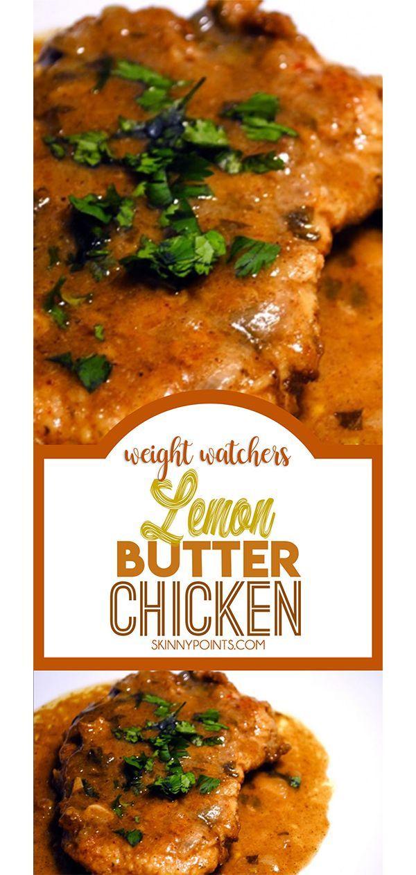 Lemon Butter Chicken Ww Meals Recipes Pinterest Lemon Butter