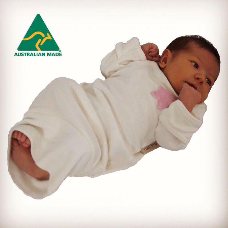 Fourzero newborn settling nightie 100% Australian Made www.fourzero.com.au