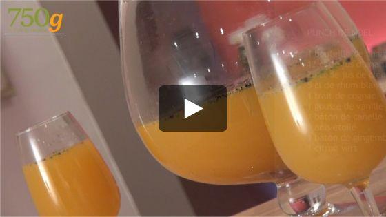 Le punch de Noël, en voici une idée de boisson pour les fêtes ! Champagne, rhum, jus de fruits et cannelle, une alliance parfaite et savoureuse...