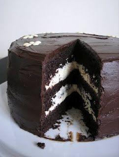 Chocolate cake with vanilla buttercream filling