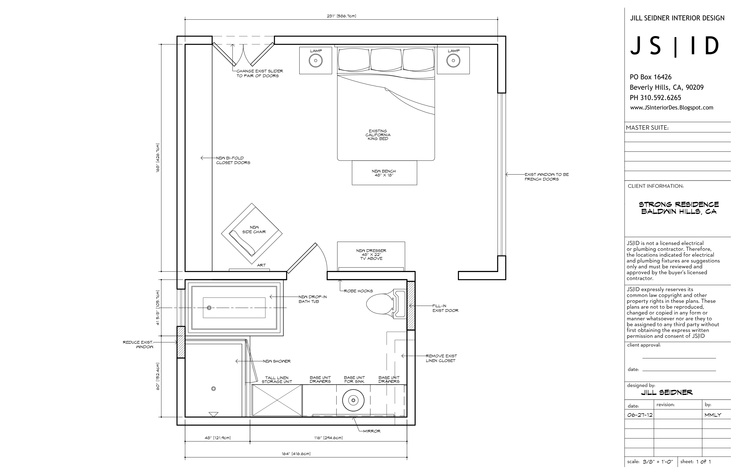 Baldwin Hills Ca Residence Master Bedroom Bathroom Suite Furniture Floor Plan Layout