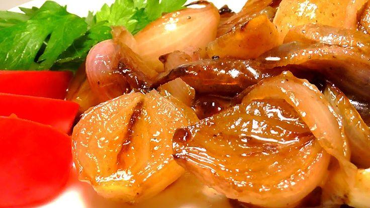 КАРАМЕЛИЗИРОВАННЫЙ ЛУК  Закуска к мясу   Предлагаю изумительно #вкусное блюдо. #Карамелизированный_лук – это отличная #закуска к мясу и его можно использовать  как салат. #Рецепт очень простой,легкий и быстрый.Такой лук съедят даже дети, вкус замечательный.