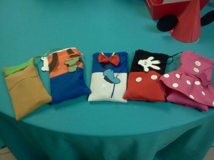 Do It Yourself Clubhouse : Customized favor bags mickey mouse clubhouse do it