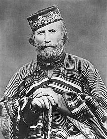 "Guiseppe Garibaldo - one of Italy's ""fathers of the fatherland"". Garibaldi was a central figure in the Italian Risorgimento."