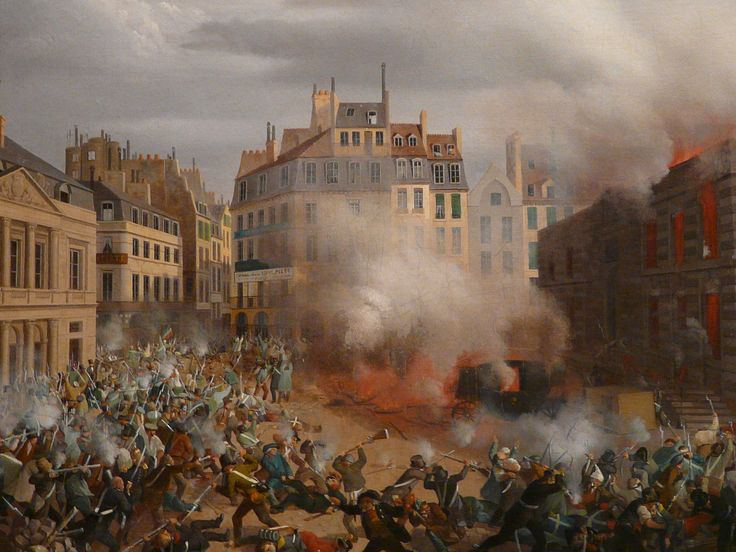 "HAGNAUER Eugène,1848 - Incendie du Château d'Eau, Place du Palais-Royal, le 24 février (Carnavalet) - Détail 02  -  TAGS / painter peintre details detail détails detalles painting paintings peinture ""peinture 19e"" ""19th-century paintings"" ""French paintings"" ""peinture française"" ""French painters"" ""peintres français"" tableaux Museum Paris France fire blaze death drame drama tragedy man men combat fight battle diligence coach town ville city Louis-Philippe abdication"
