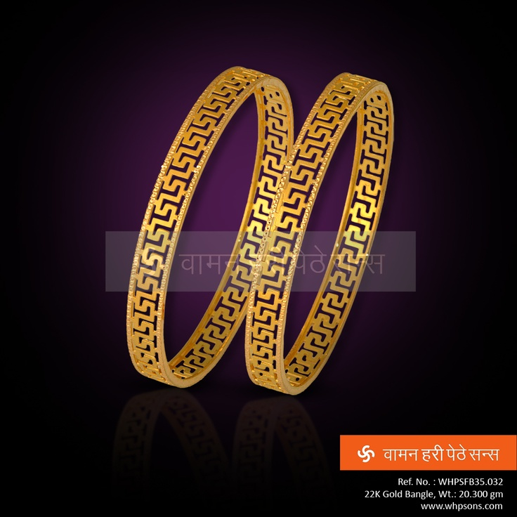 Beautifully designed gold bangles