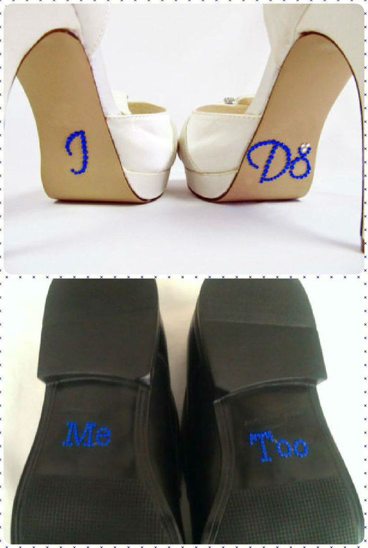 Wedding shoes for bride and groom
