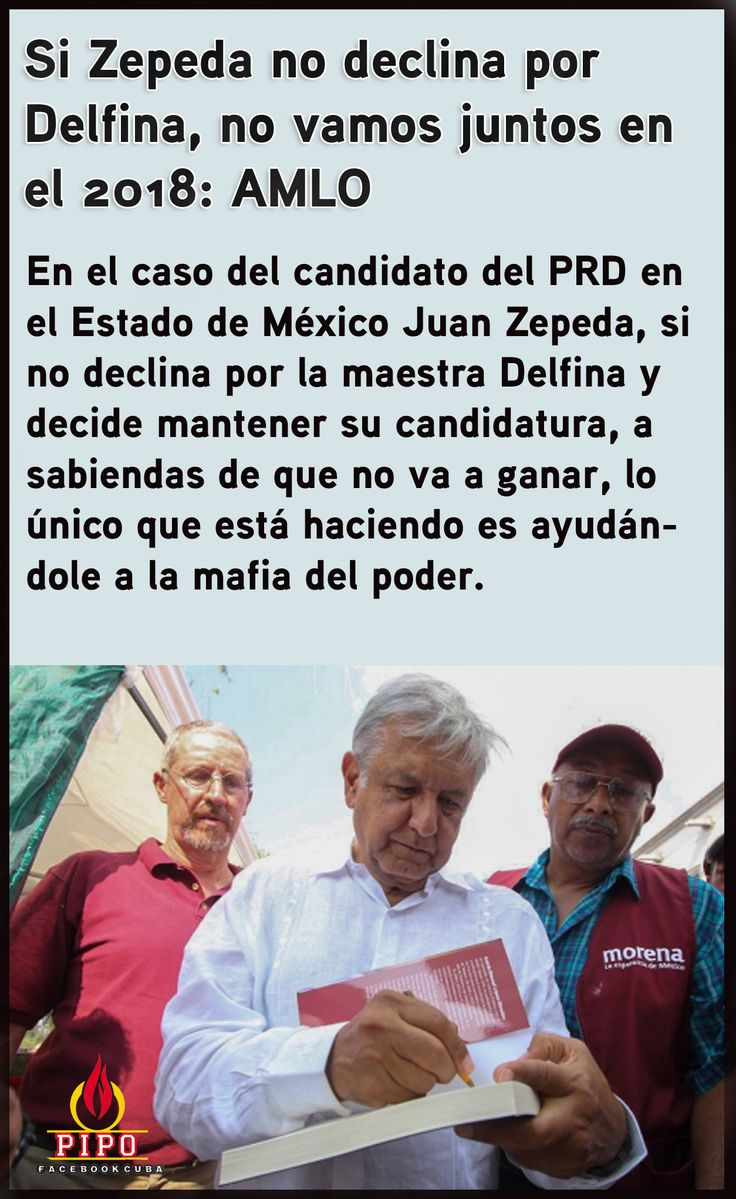 AMLO obliga al PRD a apoyaar a Delfina.