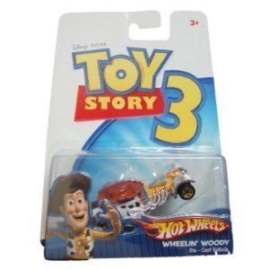 Toy Story 3 Hot Wheels Wheelin' Woody Die Cast Car by Mattel. $6.76. 1:64 Scale. Toy Story 3 Hot Wheels Wheelin' Woody Die Cast Car. Toy Story 3 Hot Wheels Wheelin' Woody Die Cast Car. For ages 3 and up.