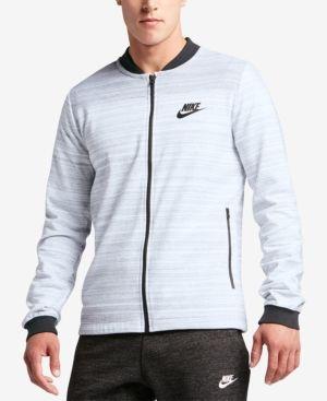 Nike Men's Sportswear Advance 15 Bomber Jacket - White 2XL